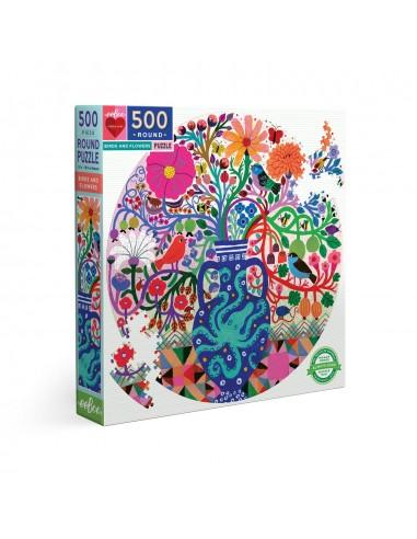 Puzzle 500 pièces - Eeboo - Oiseaux...