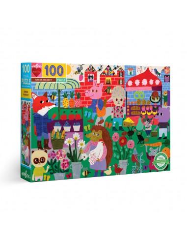 Puzzle 100 pièces - Eeboo - Marché Bio -