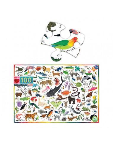 Puzzle 100 pièces - Eeboo - Un monde...