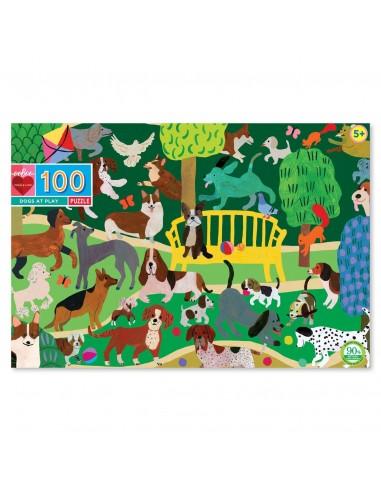 Puzzle 100 pièces - Eeboo - Chien qui...