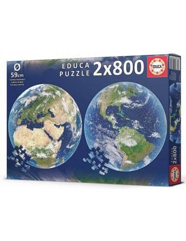 Puzzle 2x800 pièces - Educa - Planète...