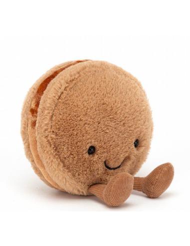 Peluche amuseable macaron chocolate