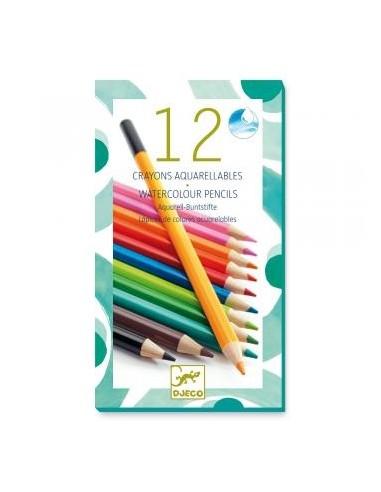 Crayons de couleur aquarellables - Djeco