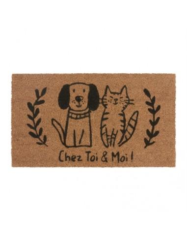 Paillasson coco/pvc chat et chien