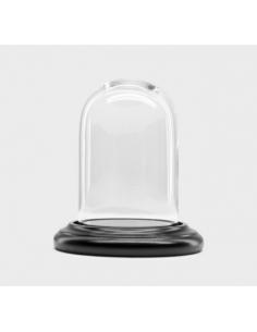 Cloche 12 / 9 cm + socle noir