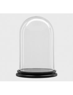 Cloche 34 / 22 cm + socle noir