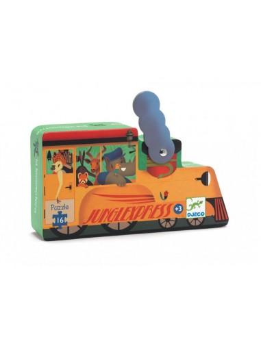 Puzzle - Djeco - La Locomotive - 16...