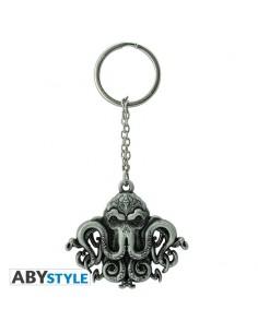Porte-clés métal Cthulhu