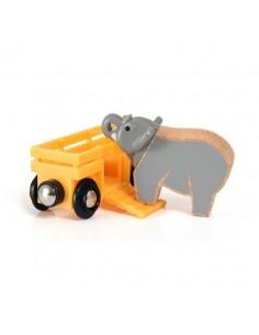 Wagon et éléphant