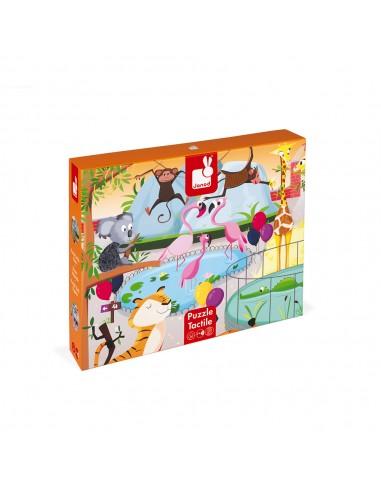 Puzzle 20 pièces Tactile : Le Zoo