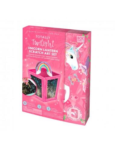 Lanterne cartes à gratter - Licornes
