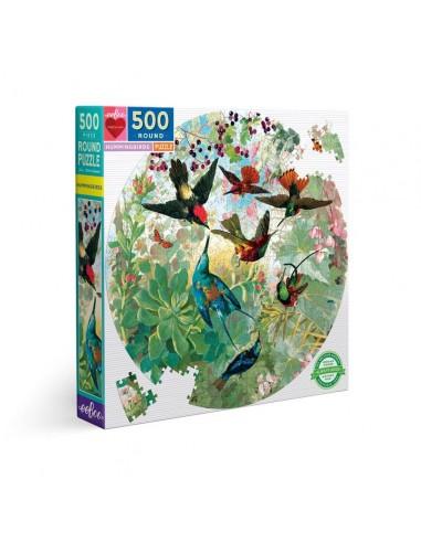 Puzzle 500 pièces - eeboo - Colibris -